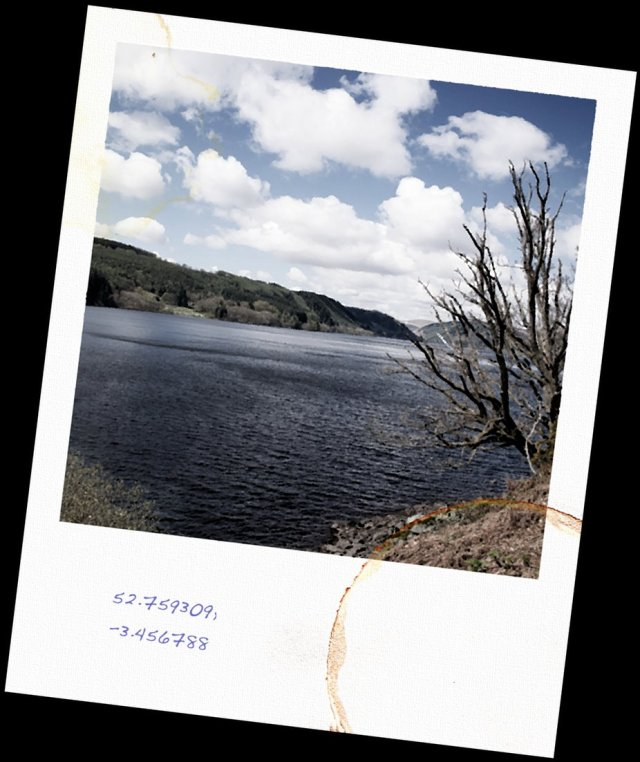 Lake Vyrnwy (the real place where Harry Staty takes his fictional run) - art by David Moody