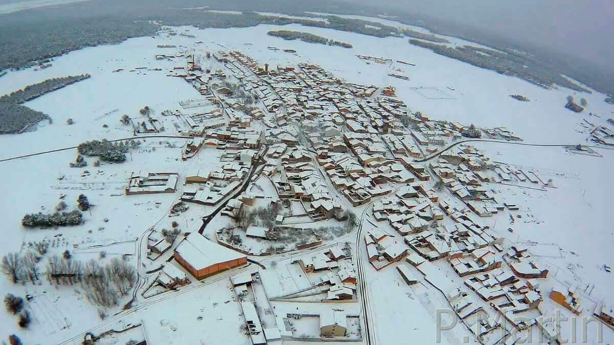 Lastras cubierta por la nieve