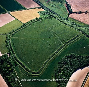 Hod Hill, Iron age hill fort and Roman camp, Blackmore Vale, Blandford Forum, Dorset, England
