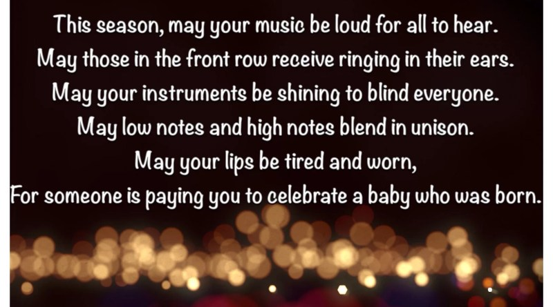 A Christmas Blessing to Brass Players