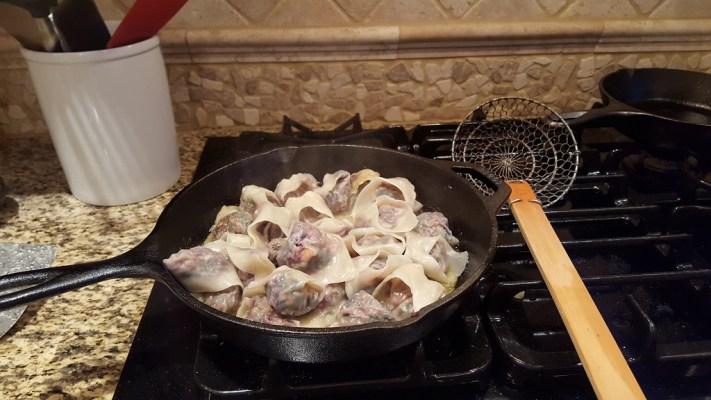 Veggie Wonton Tortellini in Sauce