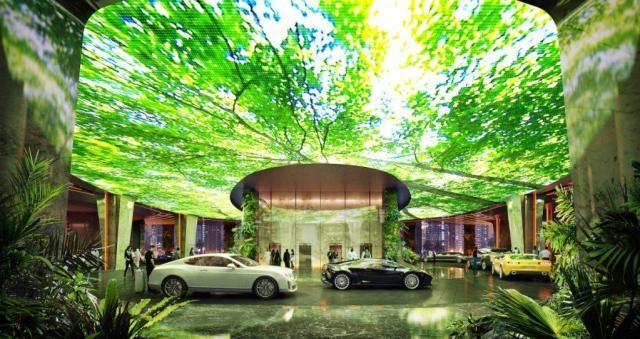 Hotel Dubai foret tropicale