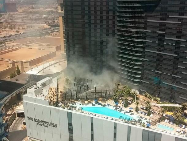 Cosmopolitan Las Vegas Fire July 25, 2015