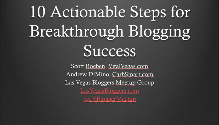 10 Actionable Steps for Breakthrough Blogging Success