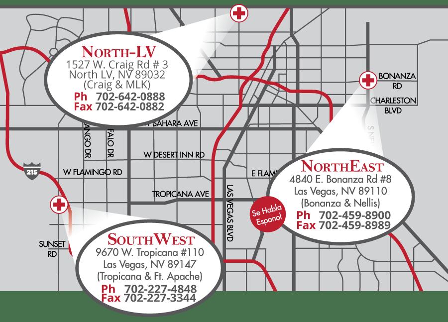Las Vegas Car Accident Treatment Centers Locations
