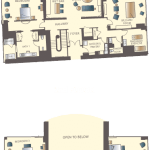 Encore Las Vegas Three Bedroom Duplex Floorplan