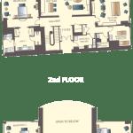 Encore Las Vegas Three Bedroom Duplex Floorplan