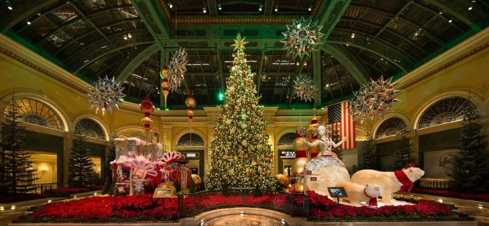 Bellagio Conservatory Botanical Garden Christmas 2019