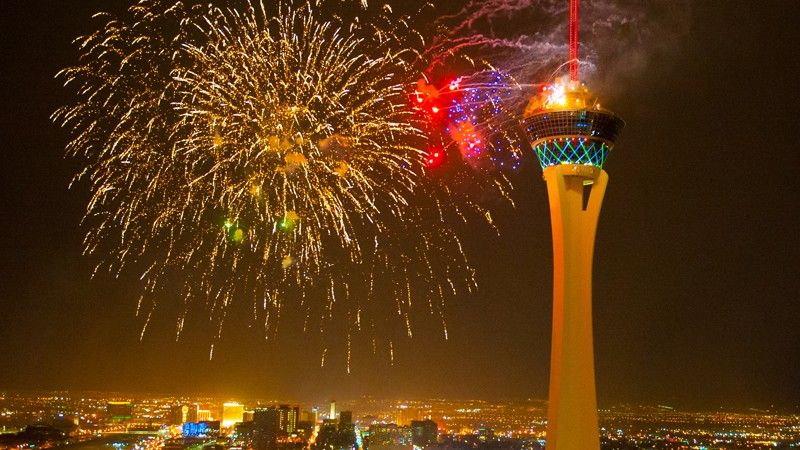 Stratosphere Las Vegas New Years's Eve party