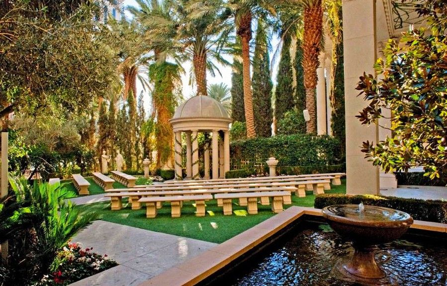Caesars Palace Las Vegas Venus Garden Wedding Chapel