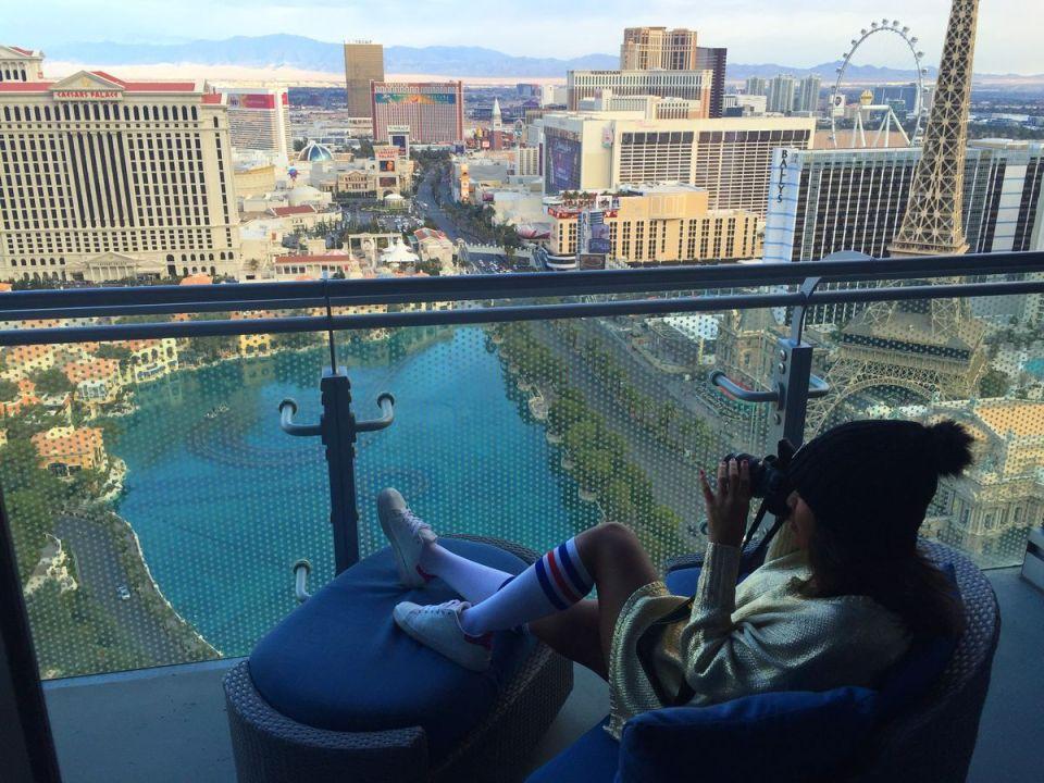 Las Vegas Cosmopolitan Hotel Terrace View