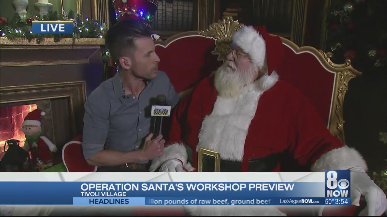 JC gets a sneak peak at Operation Santa's Workshop