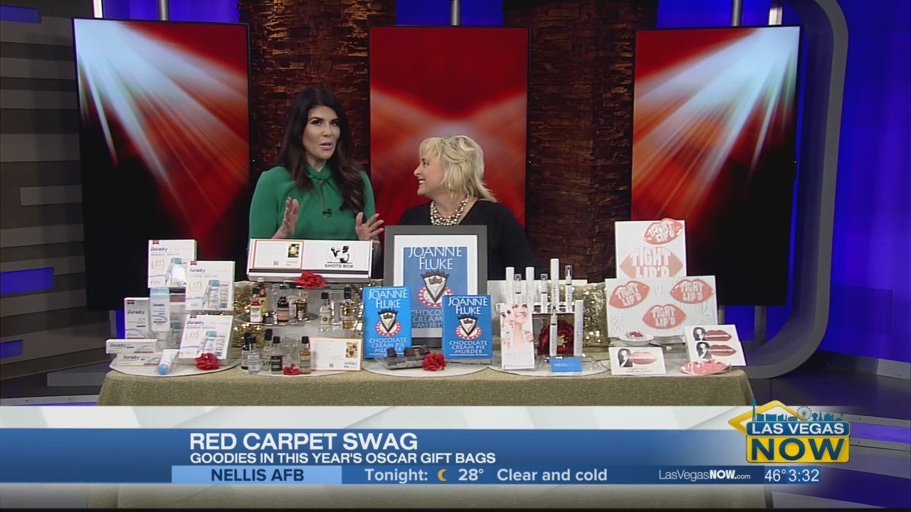 Red carpet swag bags with Dawn's Corner