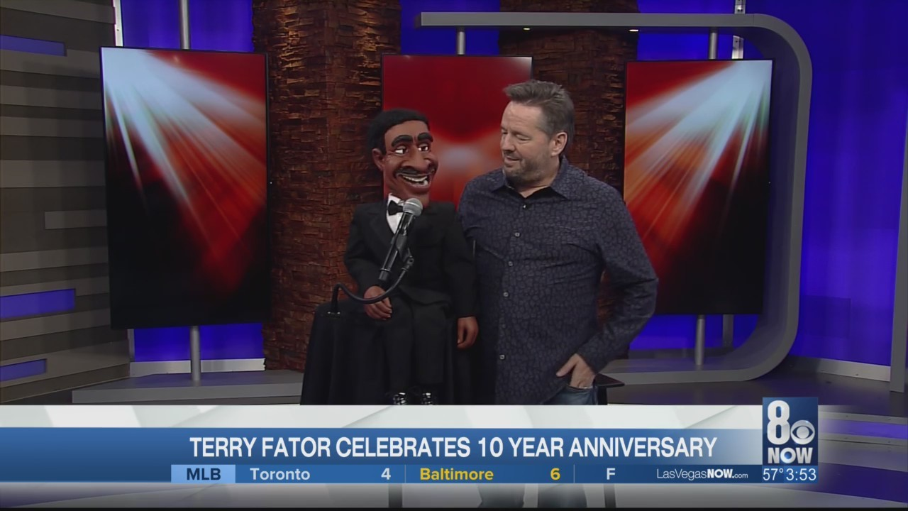 Terry Fator is celebrating 10 years on the strip