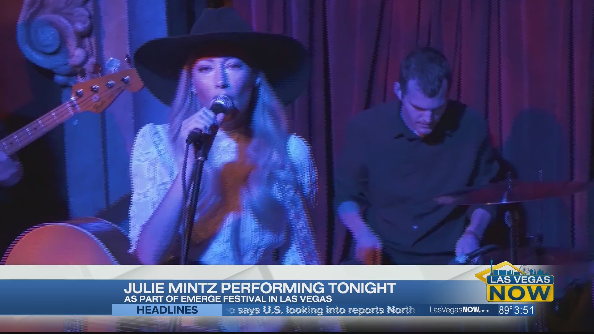 Julie Mintz performs in-studio