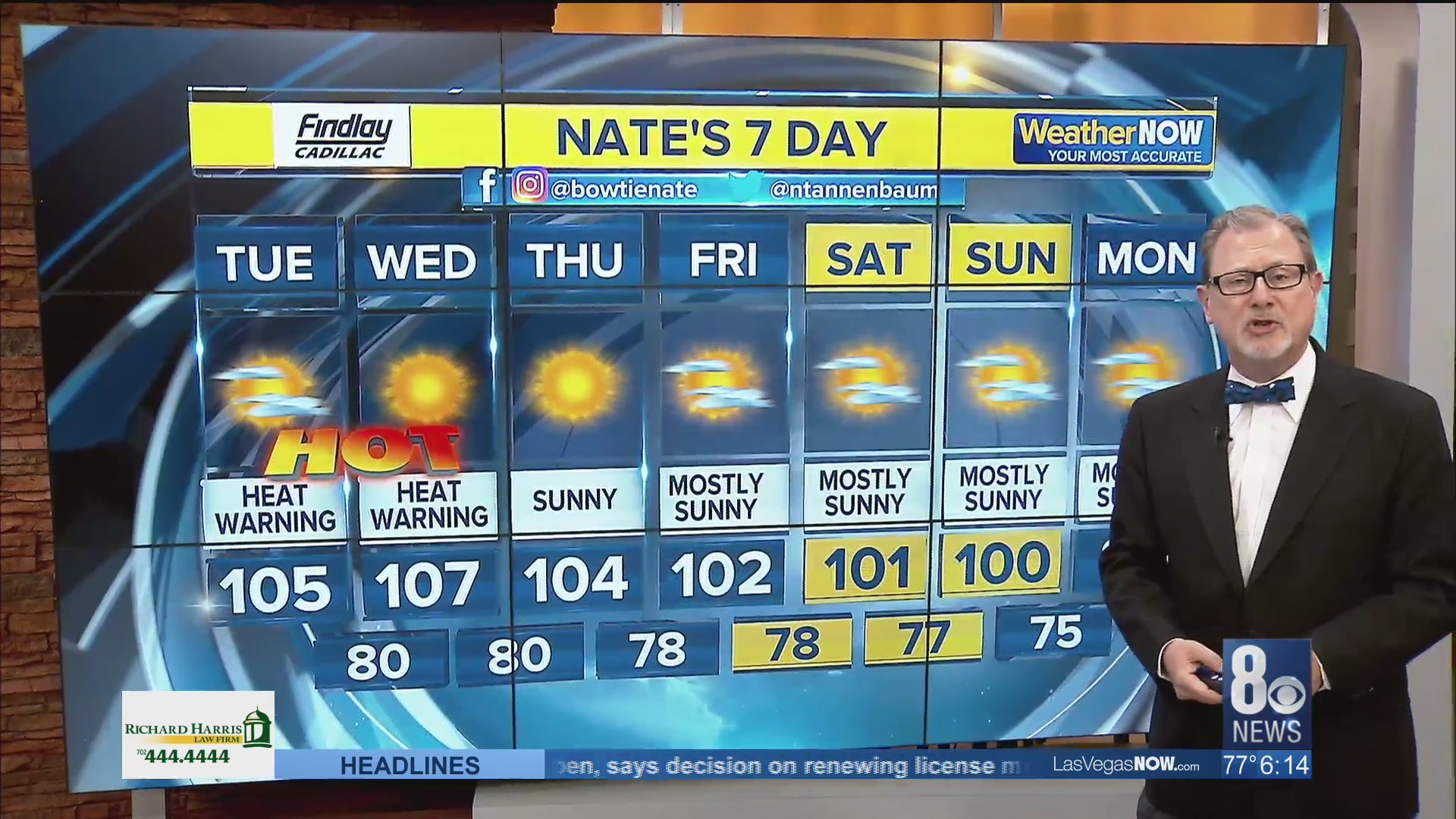 Nate's 7-Day Forecast Tuesday morning 061119