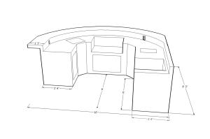 6900 Series Barbecue Island Design
