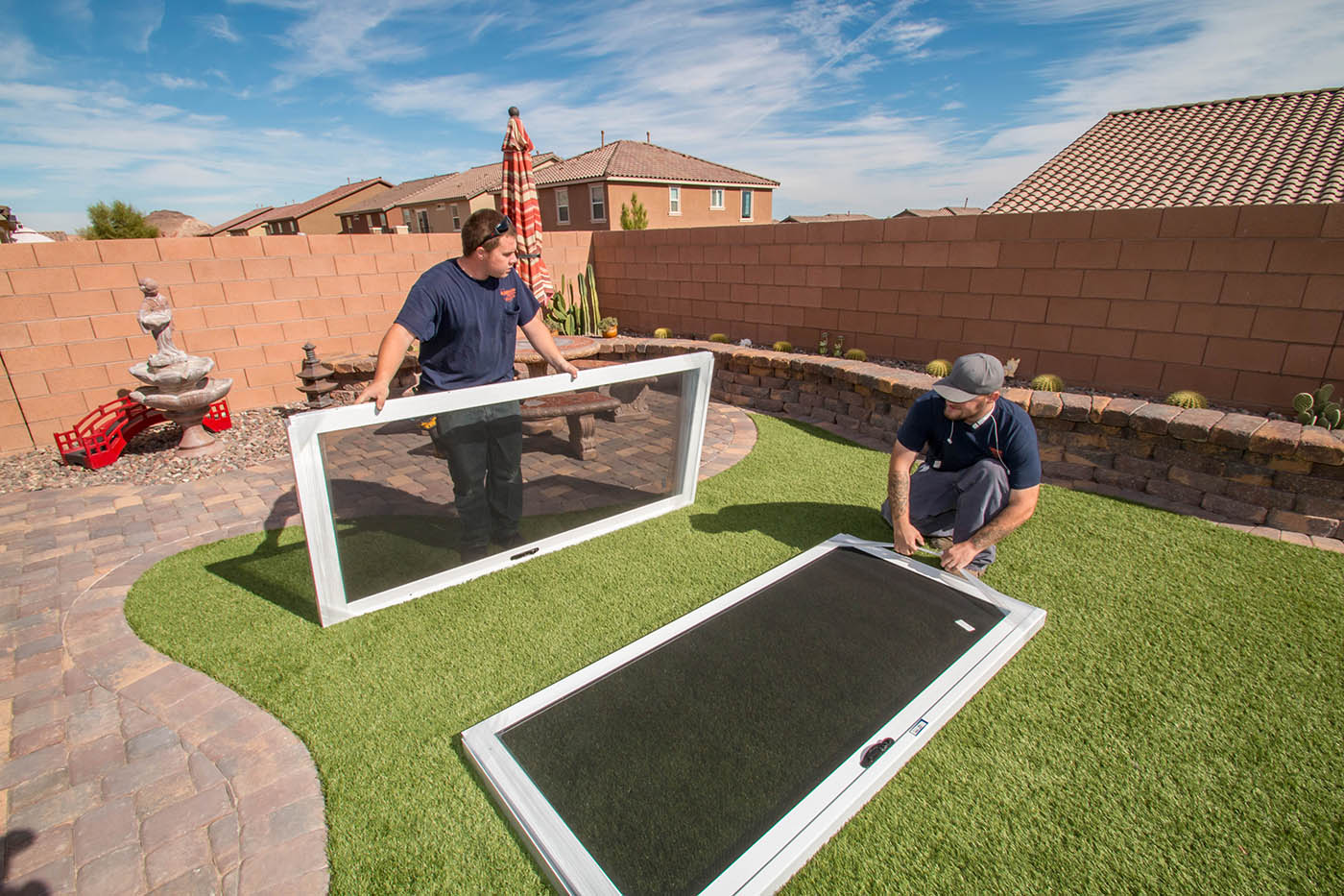 Southwest Kibbey Security Screen Installation A Cutting Edge Glass