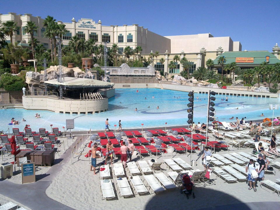 Mandalay Bay las vegas piscine
