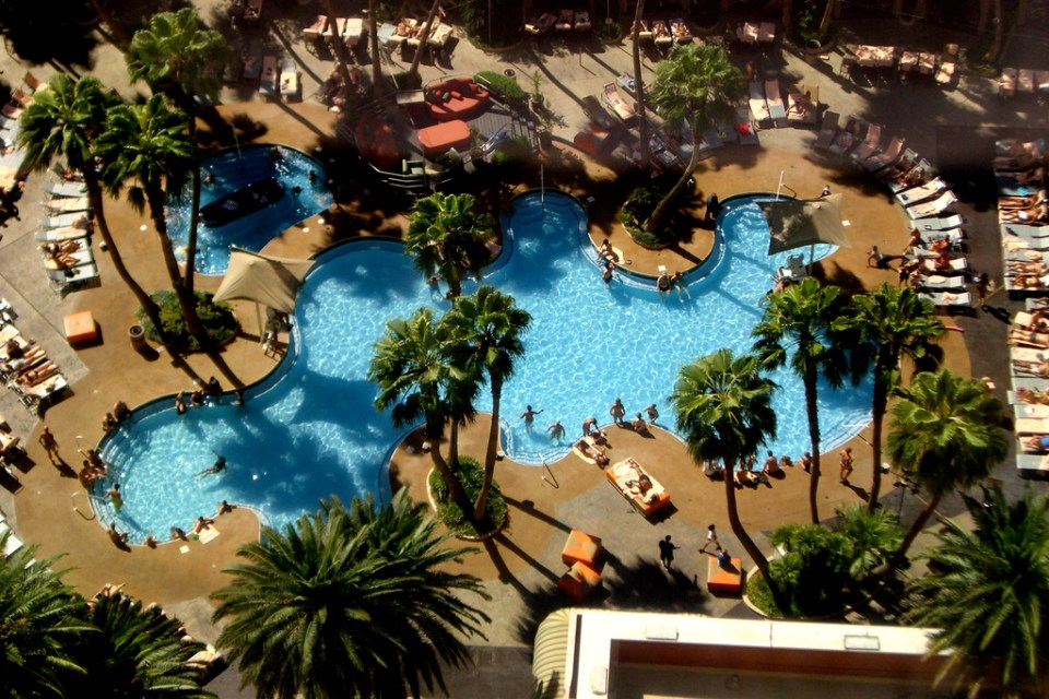 treasure island las vegas piscine