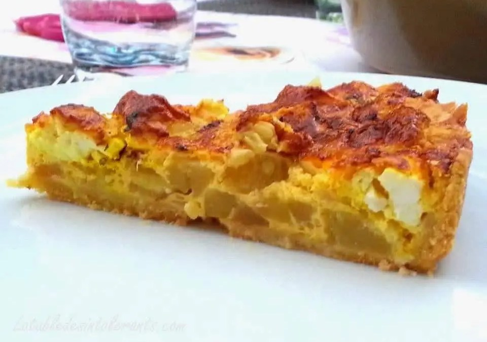 QUICHE COURGETTE FETA sans gluten, faible en lactose, avec ou sans œuf