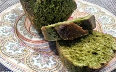 CAKE AU THE MATCHA, sans gluten, sans lait, sans sucre, sans levure