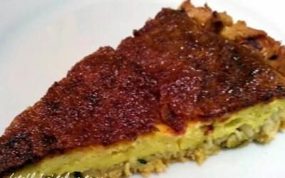 TARTE A L'AIL ROSE DE LAUTREC sans gluten, faible en lactose avec ou sans œufs