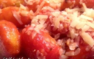 GNOCCHIS DE POMME DE TERRE BIO «MAISON» A LA  SAUCE TOMATE sans gluten