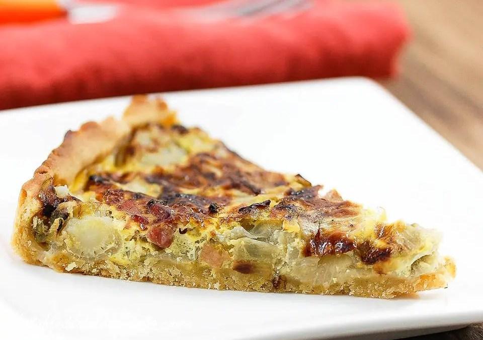 TARTES AUX ENDIVES sans gluten, sans lait et sans lactose, sans levure, avec oeuf