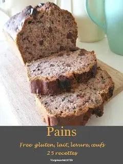CAKE A LA BANANE ET AU CHOCOLAT VEGAN sans gluten, sans lait, sans sucre, sans levure, sans oeufs