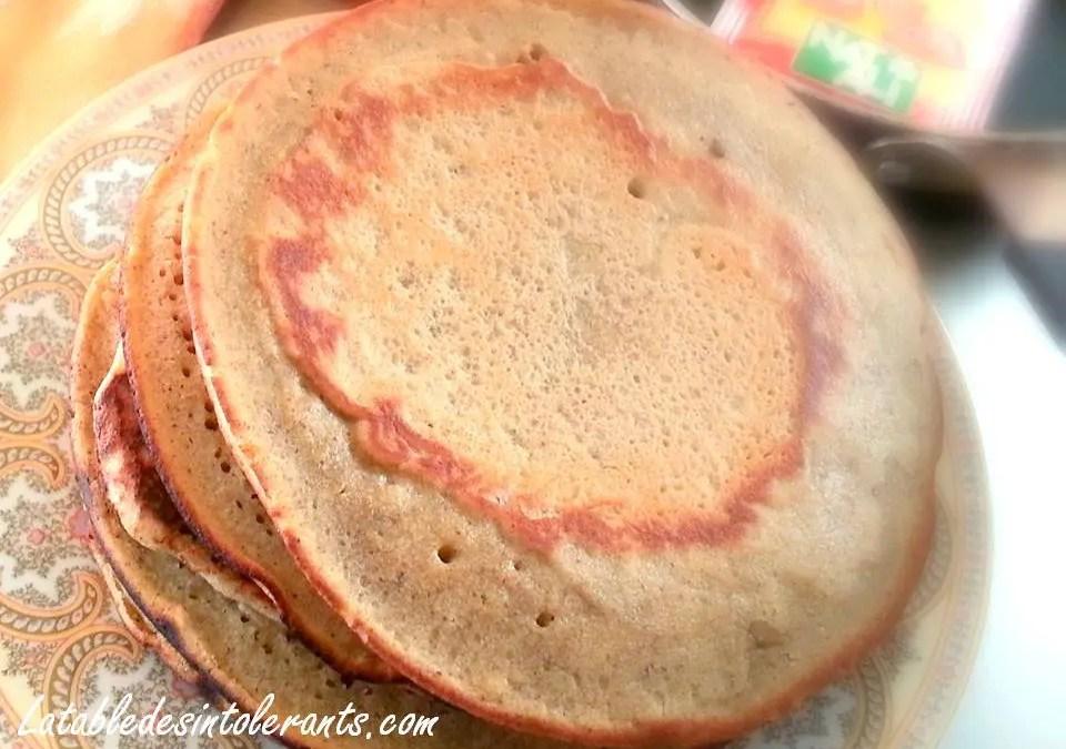 PAN CAKES sans gluten, sans lait, sans sucre, sans levure, avec ou sans oeufs