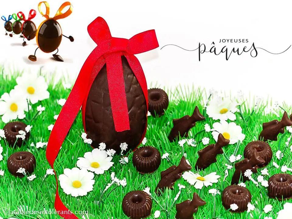 chocolats pour intolérances et allergies alimentaires