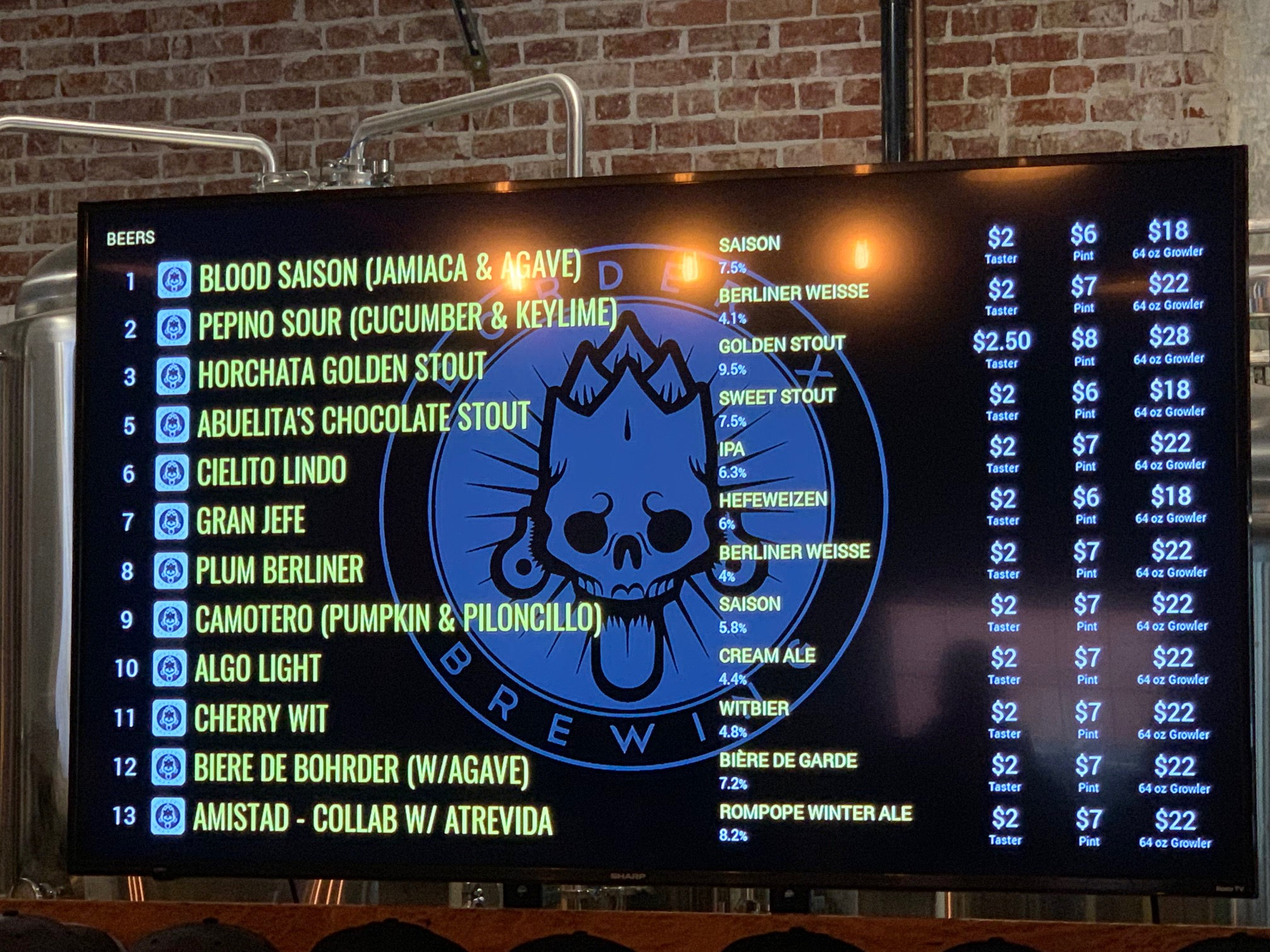 Mexican Craft Brew Specialist Border X Brewing Opens in Bell ~ By