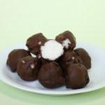 Voici les boules de coco au chocolat vegan et sans gluten, à la façon des Bounty. Ces petites bouchées sont parfaites pour le goûter, le café, ou n'importe quand en fait !