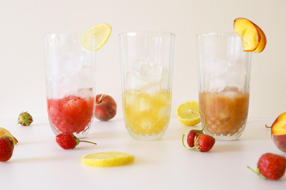 Trois parfums pour le Fresh Red, boisson fraîche au Rooibos et au jus.