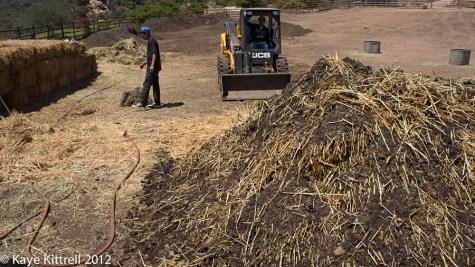 Biodynamic Compost at One Gun Ranch-forkflift