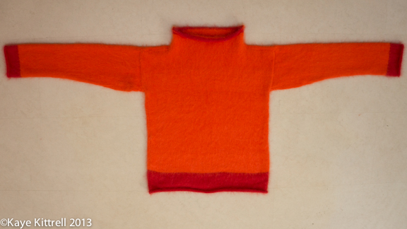 My seriously-flawed kand-knit sweater