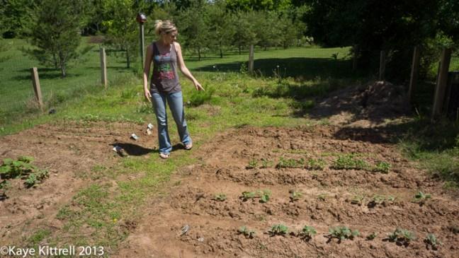 Amy in her garden.