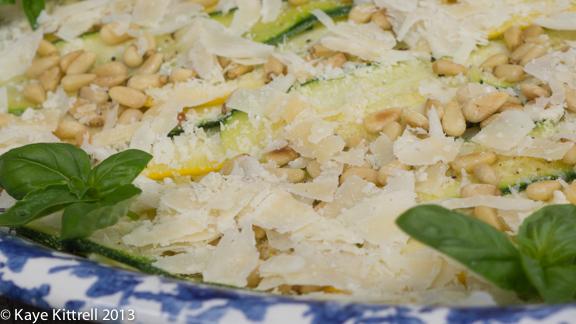 Zucchini Carpaccio Detail