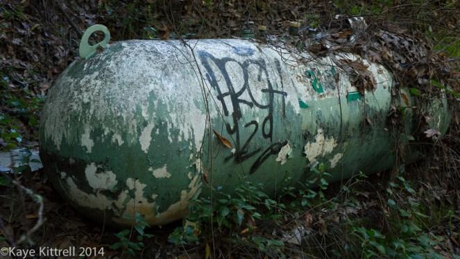 Nature Walk-Name that fungi!-propane tank