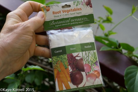 Time to sow peas & carrots - seed tape