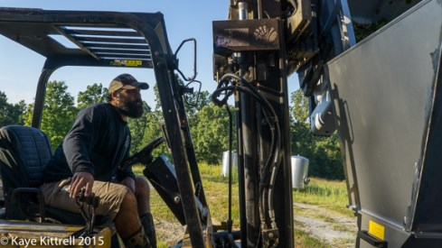Files from the Road: Muscadine Harvest - MIck with lift
