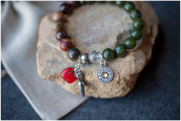 Late Bloomer Inspired StoneMalas Bracelet - detail