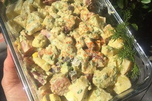 Yummy Potato Salad with Blood Oranges