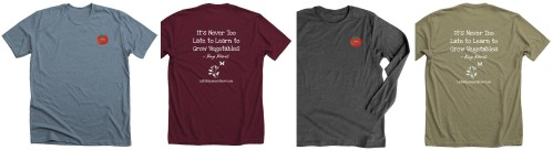 Late Bloomer T-shirt Design and Colors