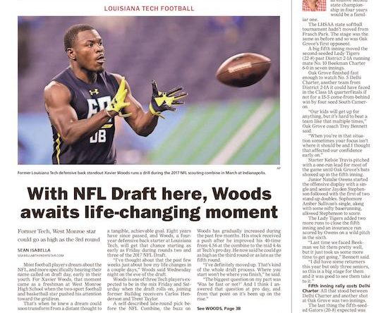 With NFL Draft here, Xavier Woods awaits life-changing moment