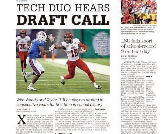 To America's Team: West Monroe's Woods drafted by Cowboys
