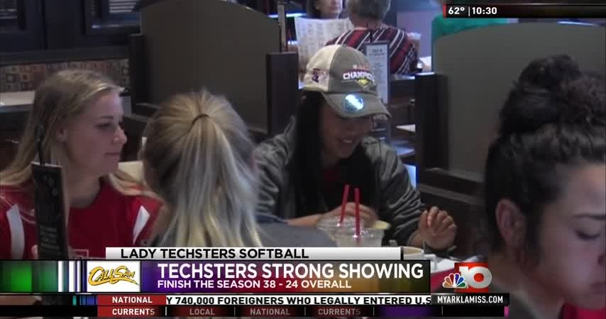 Lady Techsters softball team returns home after weekend in Tuscaloosa