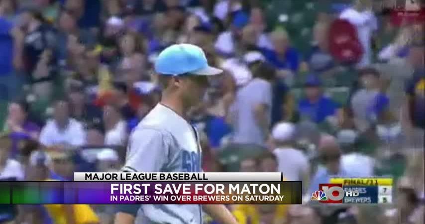 Former Bulldogs pitcher Maton earns first Major League save