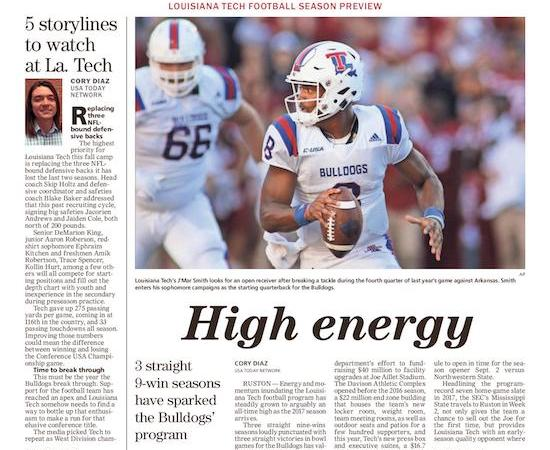 La. Tech has great expectations for 2017